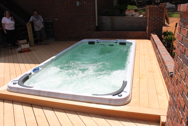 Relax Exercise With Hot Tub Swim Spas Swimming Pool Combo Alps Spas