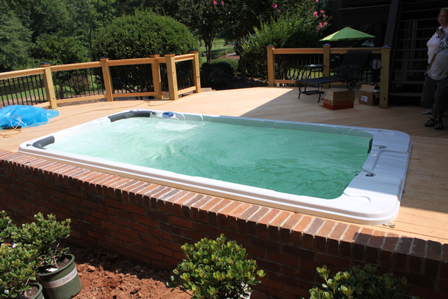 Image result for hot tub in decking